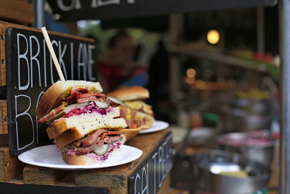 Sandwiches på Borough Market i London