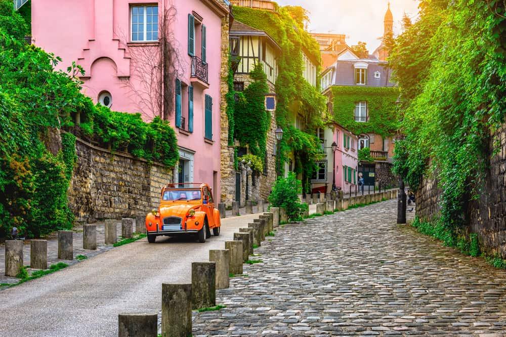 Montmatre-kvarteret i Paris