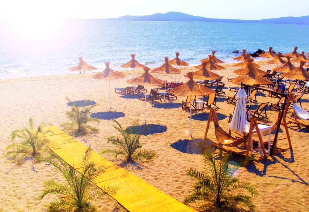 Strand i Sunny Beach i Bulgarien