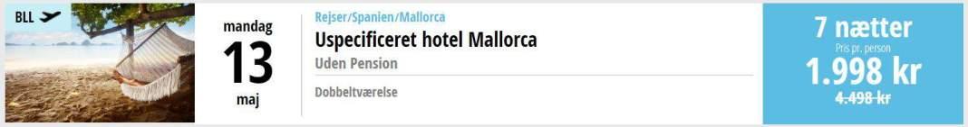 Charterferie på Mallorca i Spanien