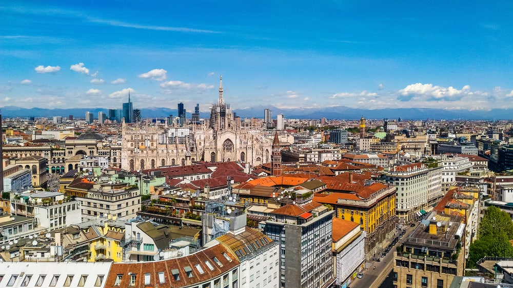 Panoramabillede over Milano i Italien