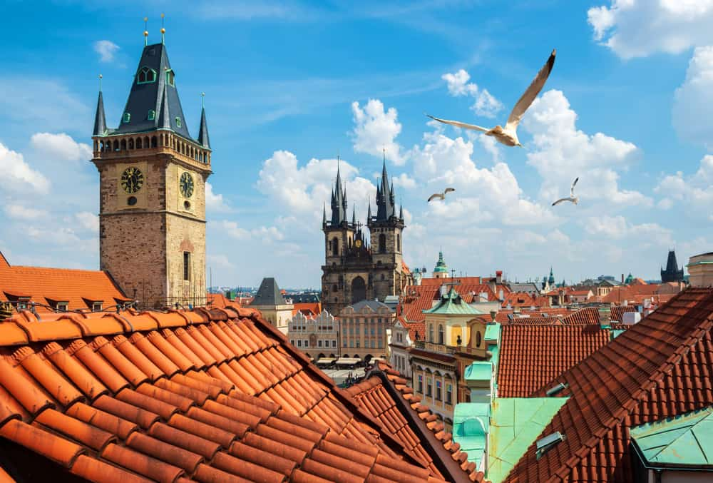 Udsigt over Prags tage i Tjekkiet
