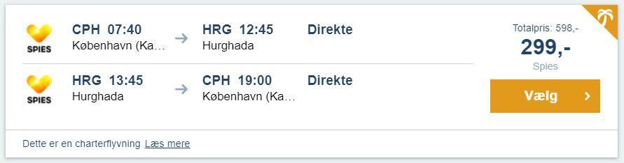 Flybilletter fra København til Hurghada - Egypten