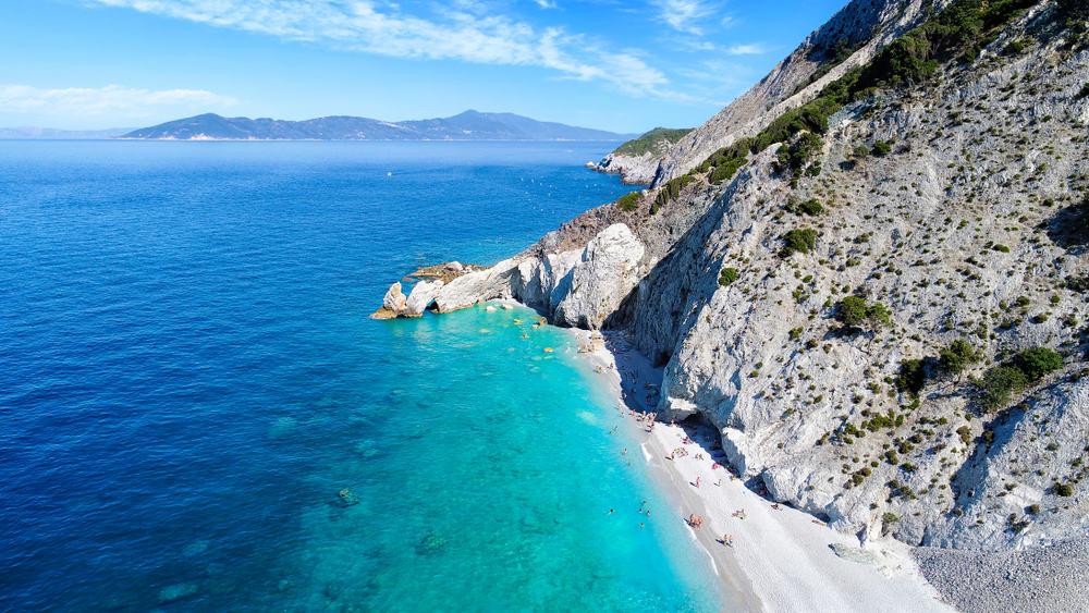 Lalaria stranden - Skiathos i Grækenland