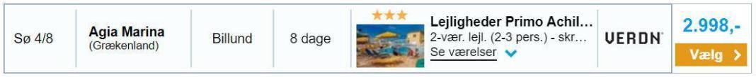 Charterrejse - Agia Marina på Kreta (Grækenland)
