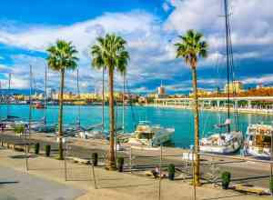 Marinaen i Malaga i Spanien