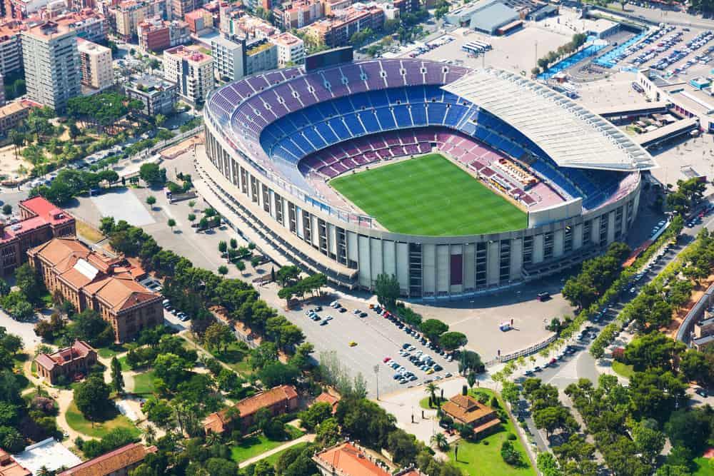 Camp Nou i Barcelona