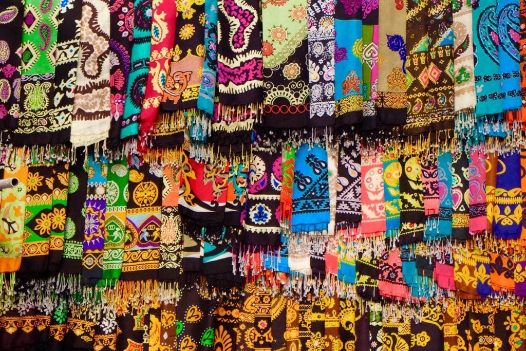 Turkménistan - textiles, Achgabat - voyage
