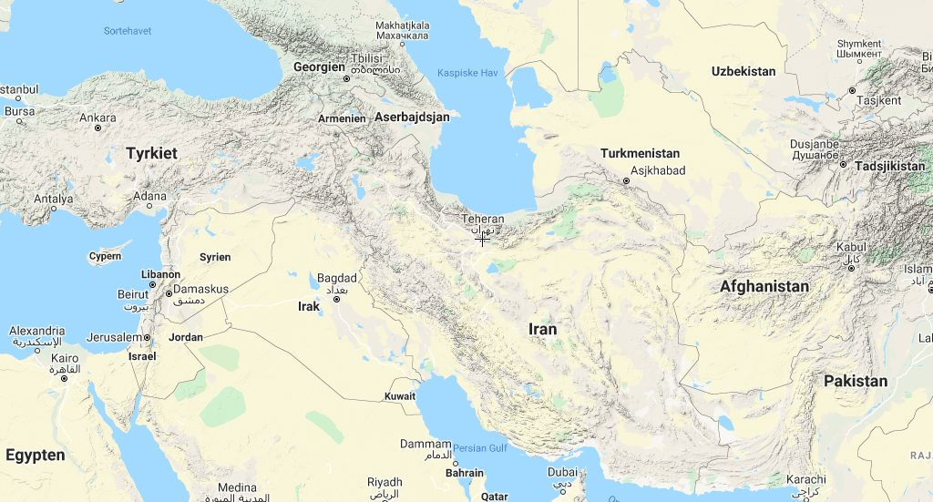 Carte Iran Teharan Travel