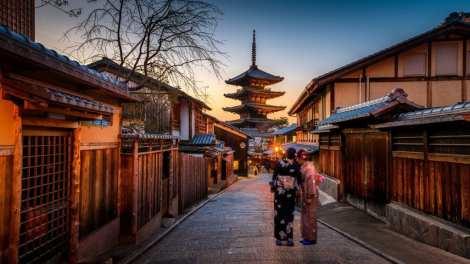 Giappone - strada, tempio - viaggio