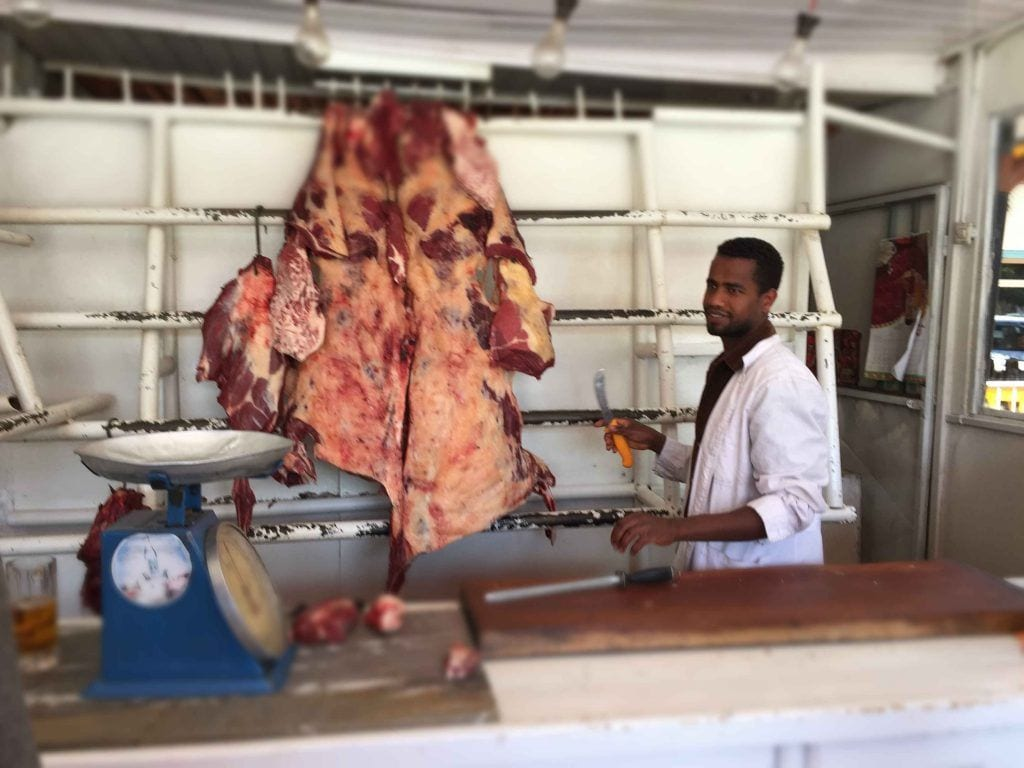 Addis abeba - kød - etiopien - rejser