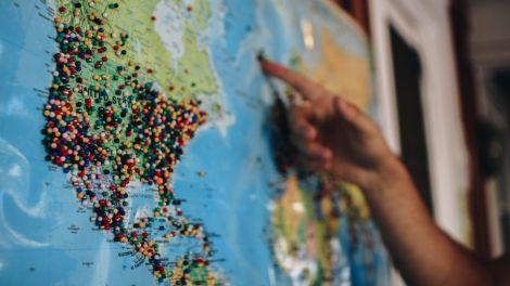 World map - usa - travel