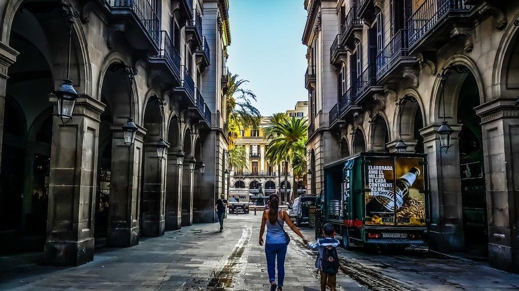 Spain - Barcelona, Plaça Reial - rejser