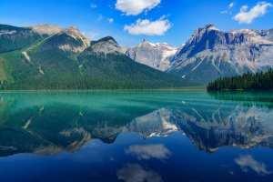 Canada - bjerge, sø, spejling - rejser