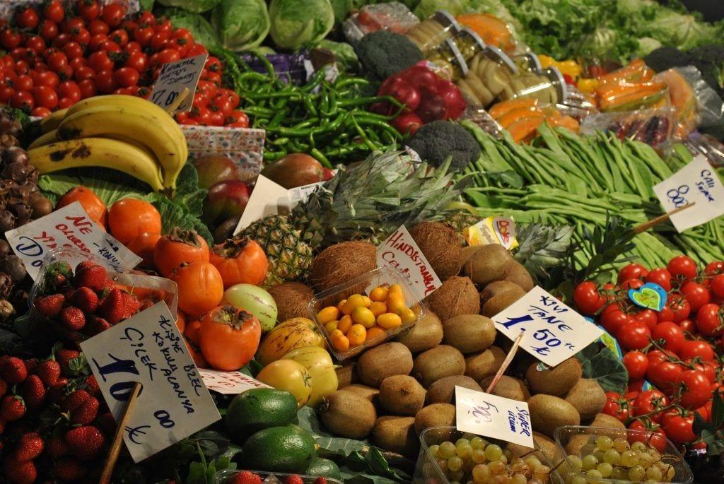 Tyrkiet - oplevelser i Alanya - grøntsagsmarked