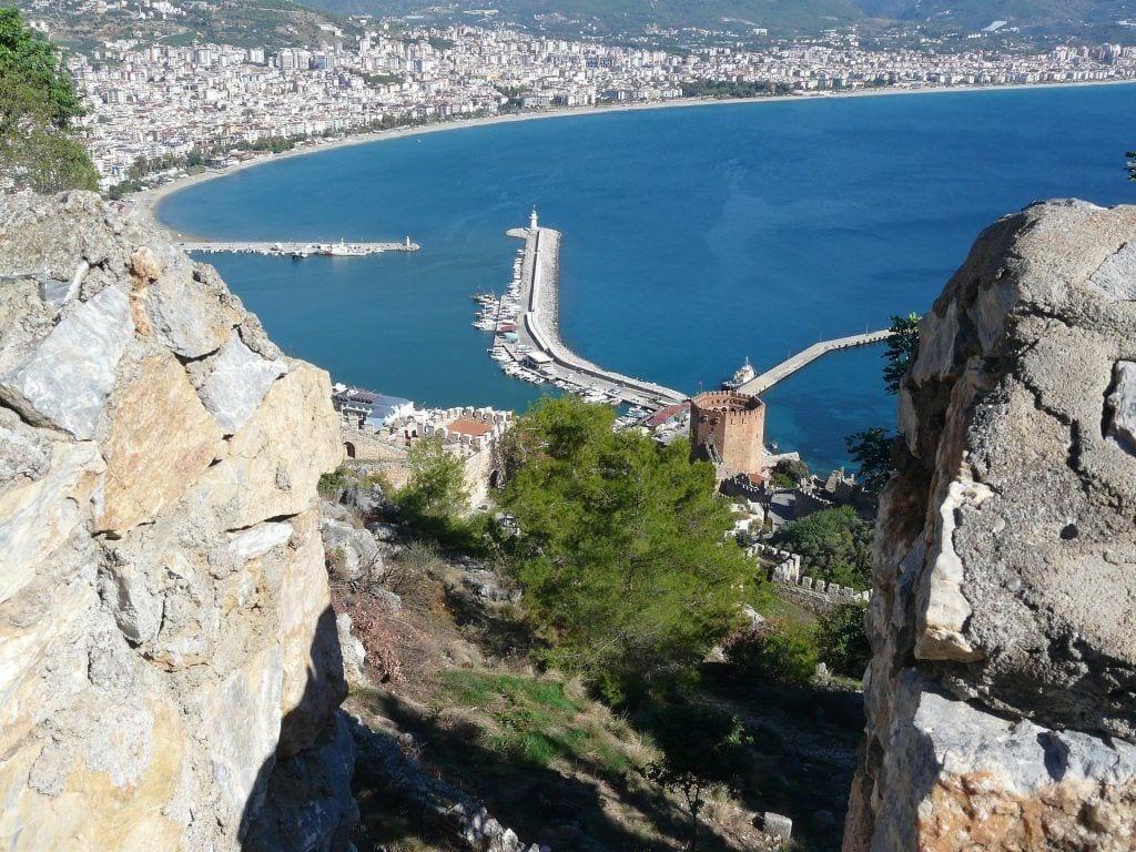 Tyrkiet - oplevelser i Alanya - udsigt fra borgen
