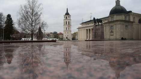 リトアニア-ビリニュス、宇宙、反射-旅行