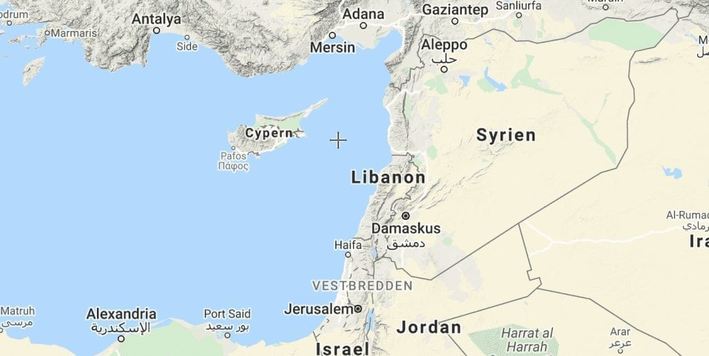 Libanon kort rejser
