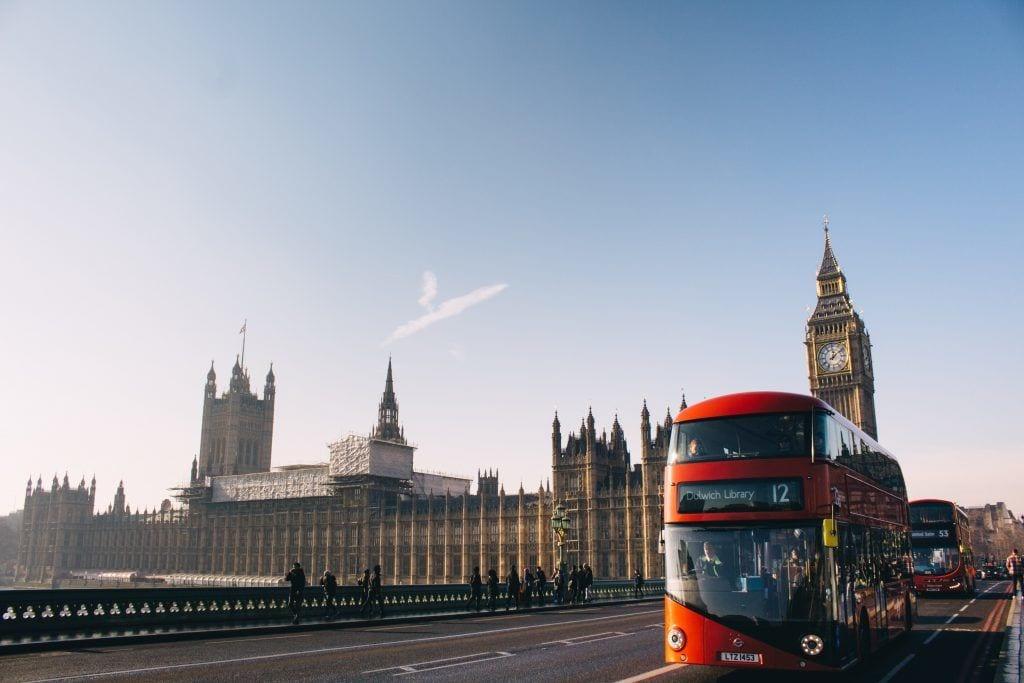 London - bus big ben storby byguide - rejser