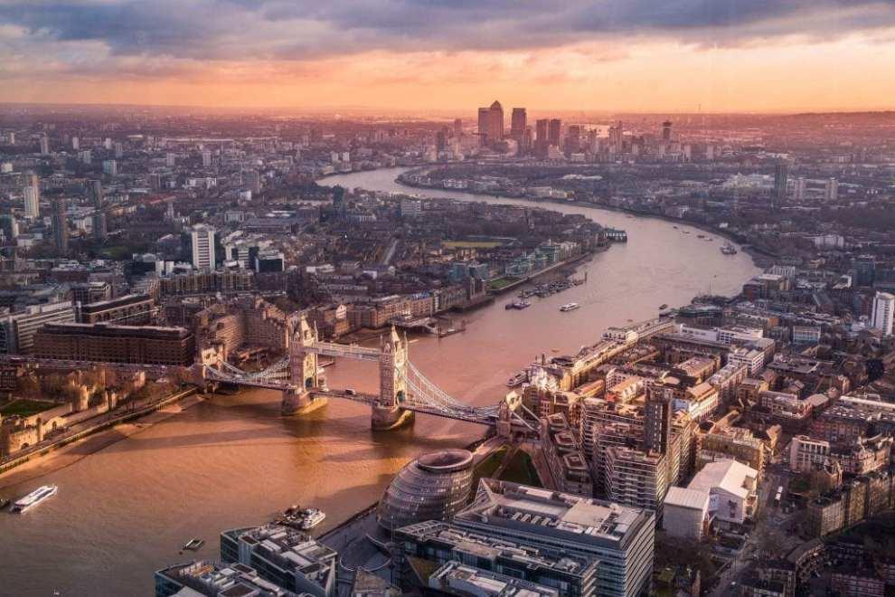 Londres - guía de la ciudad metropolitana de bridge themsen - viajes