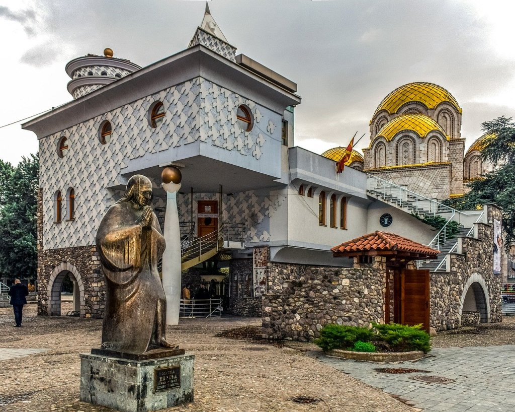 Visite du musée de la statue de Skopje en Macédoine