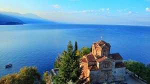 Makedonia - metropolitansk innsjø - reise