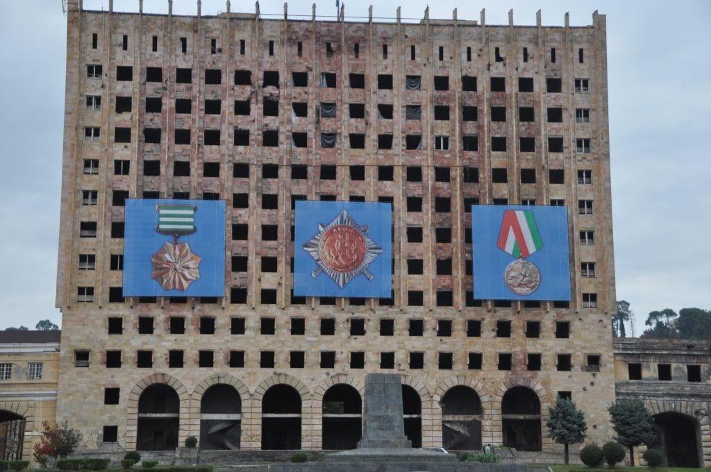 Abkhasien -bygning by georgien - rejser