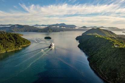 New Zealand - fjord ship nature - travel