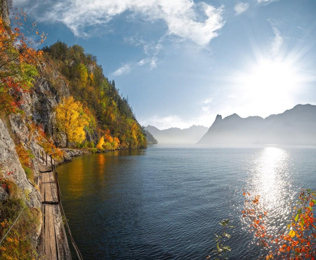 Østrig Salzkammergut - sø klipper natur - rejser