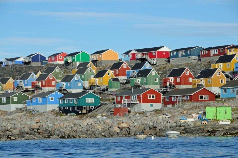 Grönland - evler - seyahat