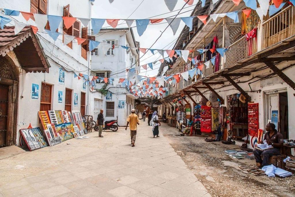Stone Town - Stonetown - Zanzibar - Afrika - Tanzania - Marked - Rejser