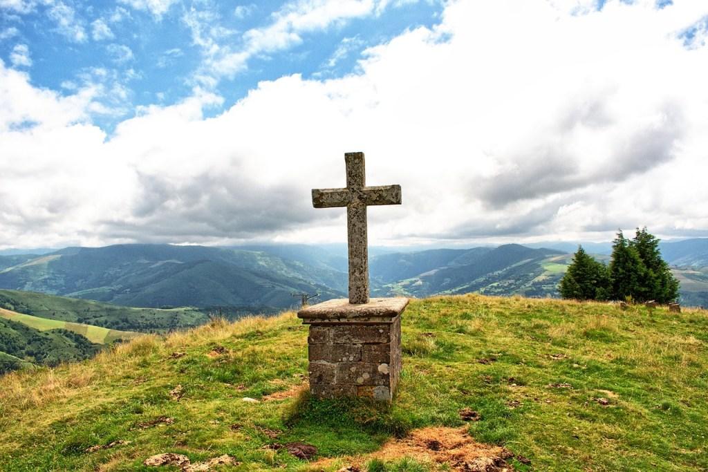 Spanien - Asturien, Kreuz, Aussicht - Reisen
