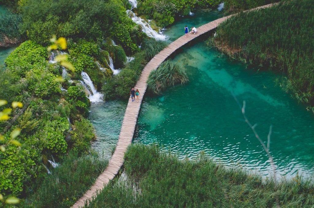 Kroatien - Split, Dalmatien, Fußgängerbrücke - Reisen