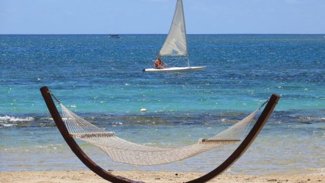 Mauritius - hammock, beach - travel
