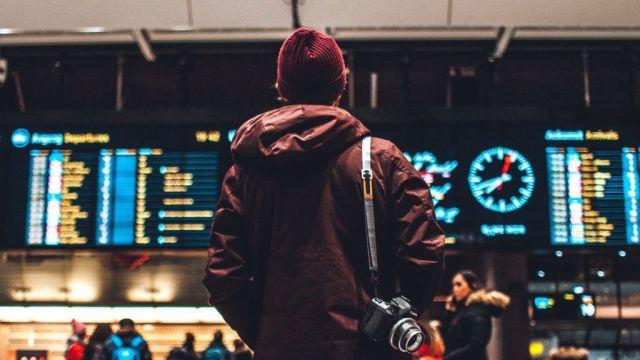 lufthavn håndbagage kuffert rejser