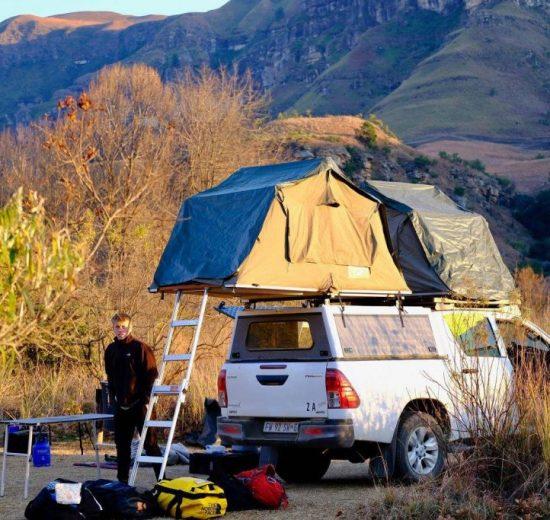 Dragebjergene, camping Sydafrika, rejser