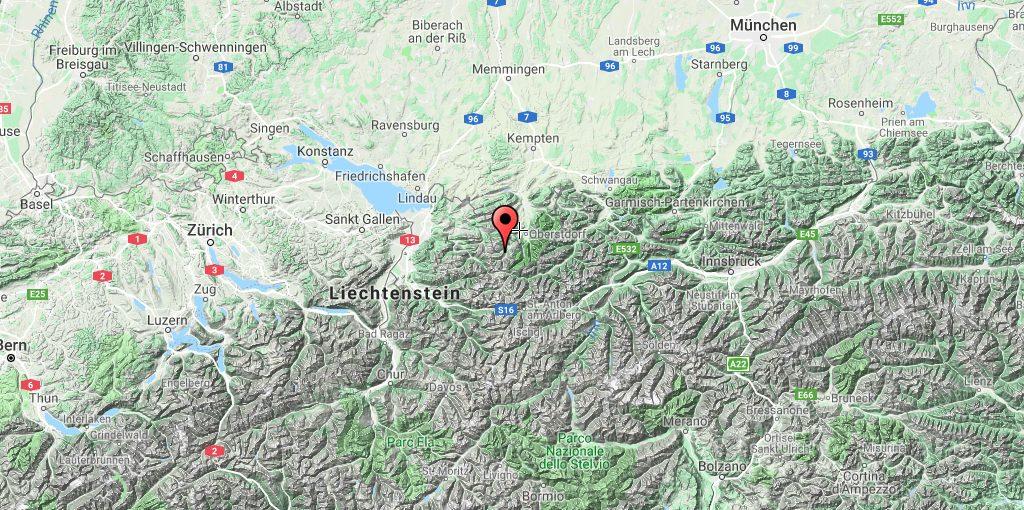 ऑस्ट्रिया नक्शा Kleinwalsertal