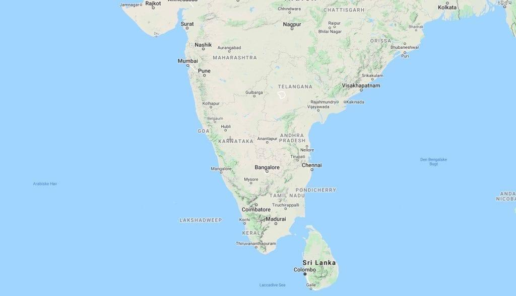 Indien - goa - kort - rejser