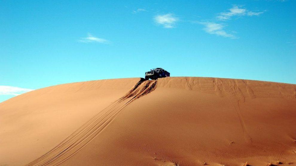 Marokko - ørken, bil - reise