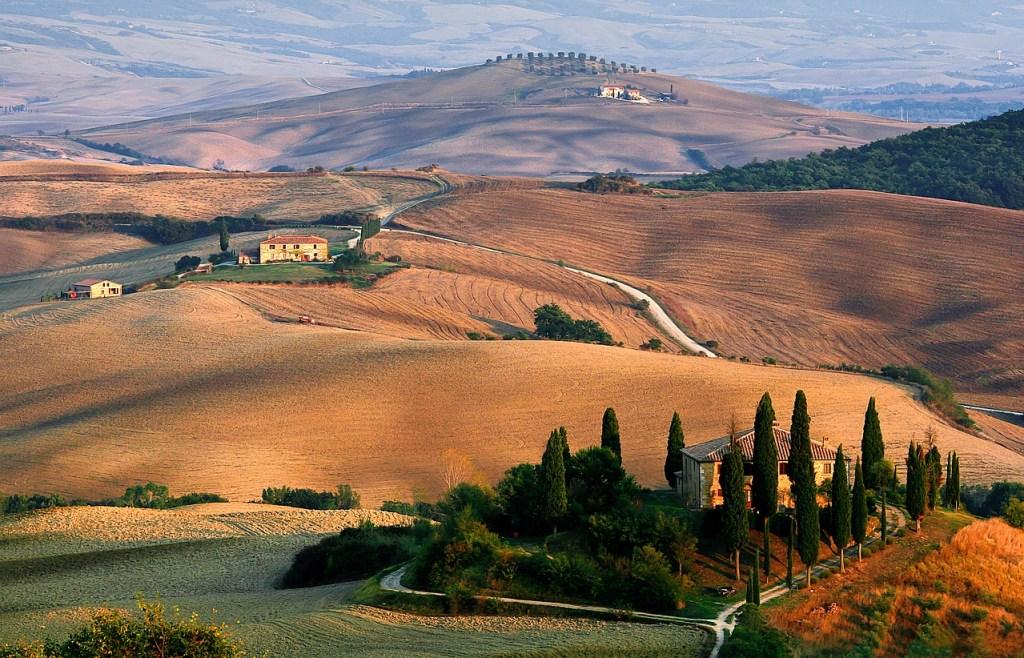 Toscana, Italien, Landskab