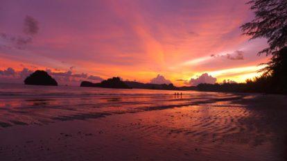 Tayland - Ao Nang - Krabi - Sahil - Gün Batımı - Seyahat