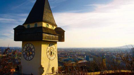 Østrig - Graz, Uhrturm - Rejser