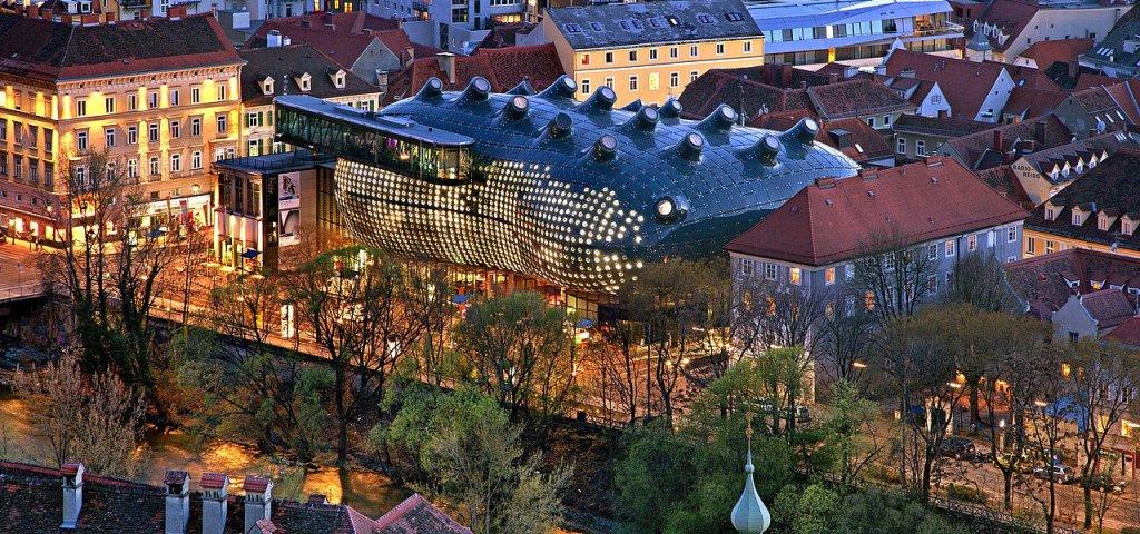 Østrig - Graz, Kunsthaus Graz - Rejser Rejse i Østrig