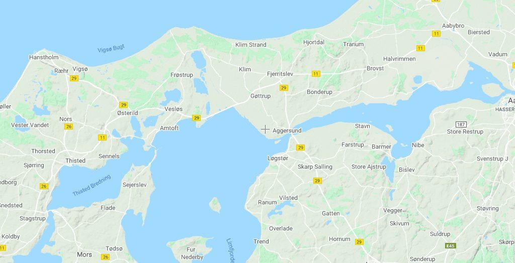 Danmark hjortdal dyrefarm rejser