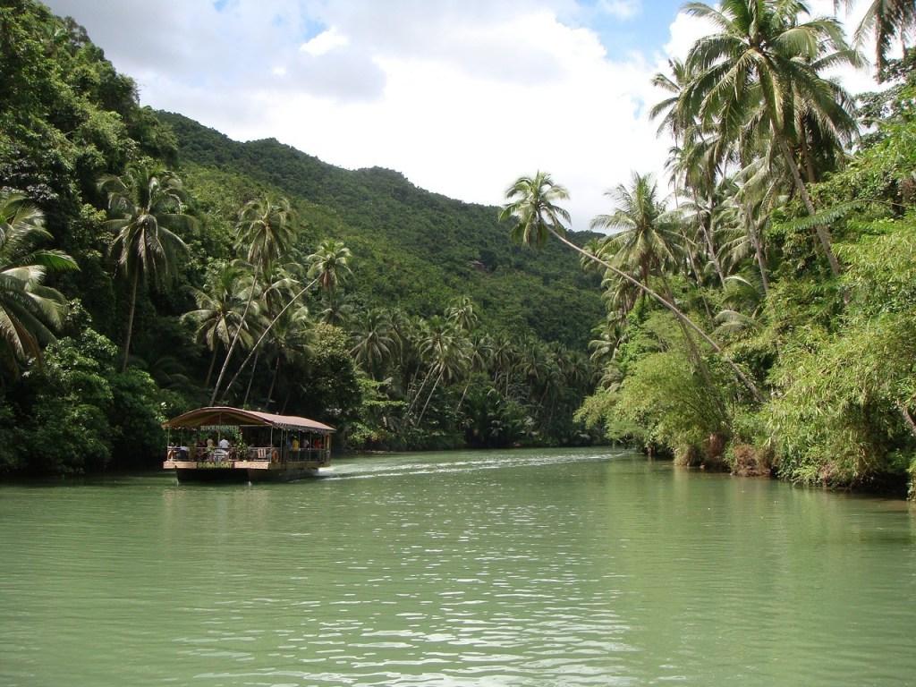 Bohol Island, Filippinsk, filippinernes øer, flod, flodbåd, regnskov, rejser
