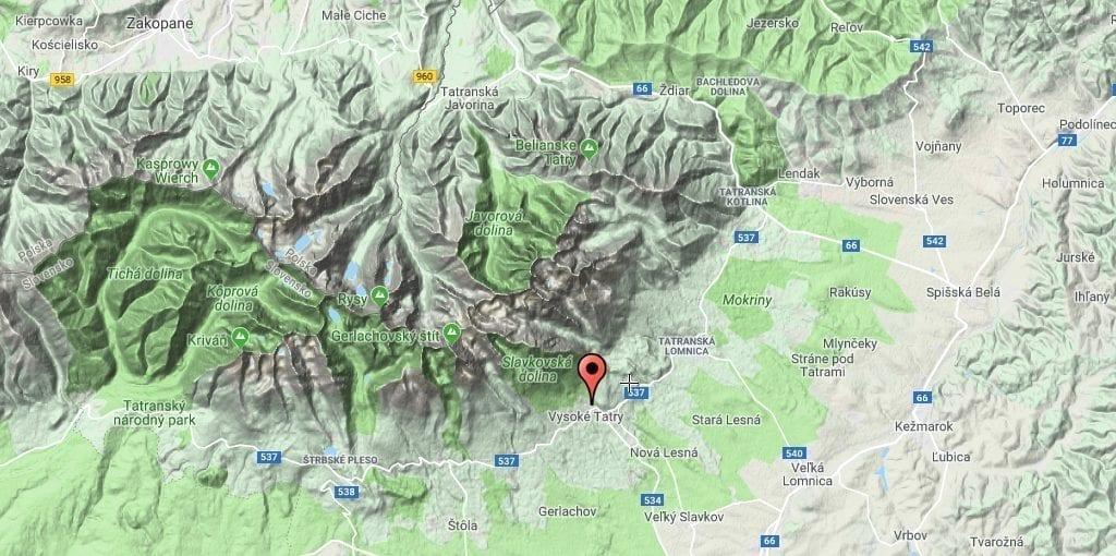 Slovakiet Tatra high kort rejser