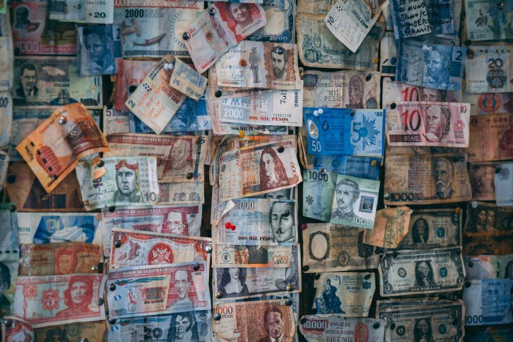 Pengesedler - Valutakurser Rejser rejse