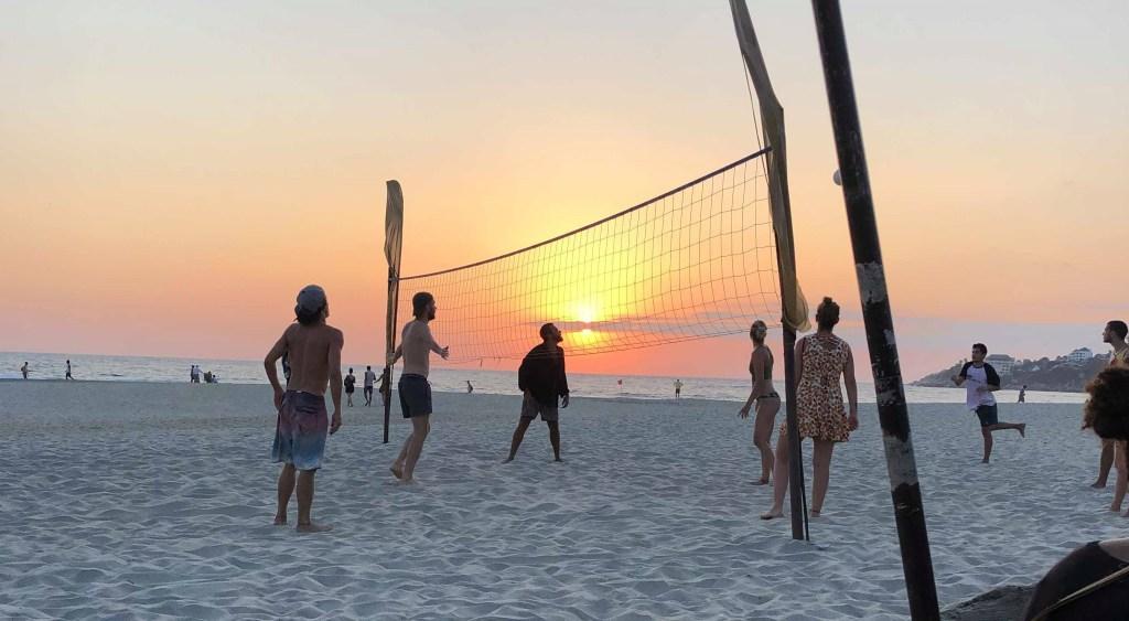 Messico - Escondido, Playa Zicatela, beachvolly. tramonto - viaggio - surf