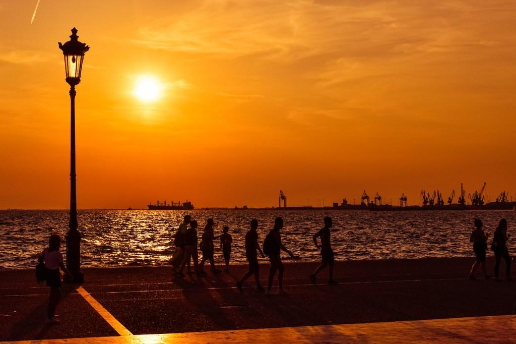 Grækenland Thessaloniki Solnedgang Rejser