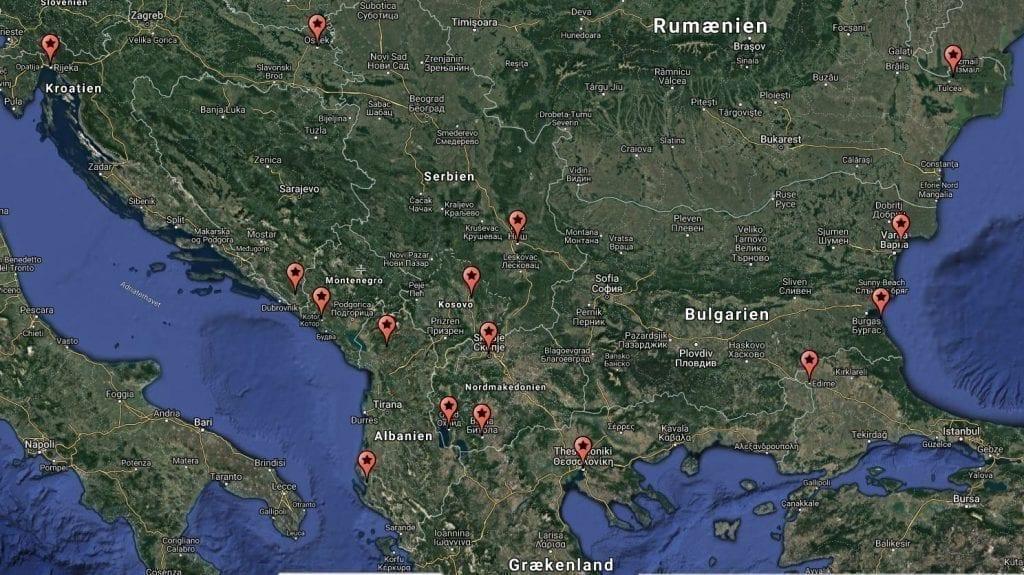 Balkan Map Travel